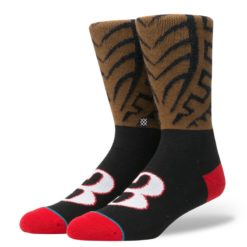Stance AI Cornrows Brown socks