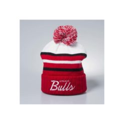 Mitchell & Ness winter beanie Chicago Bulls white/red Colour Block Special Script Knit