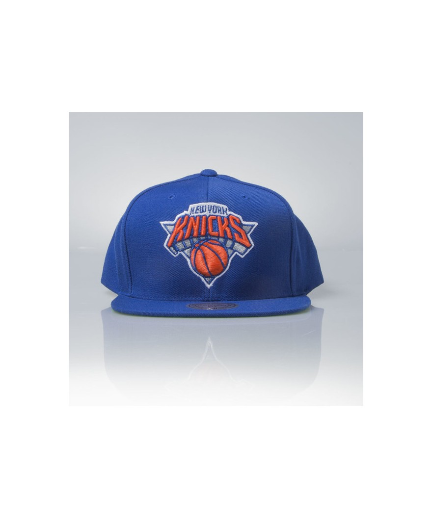 719e8d884259f Mitchell   Ness cap snapback New York Knicks blue Wool Solid