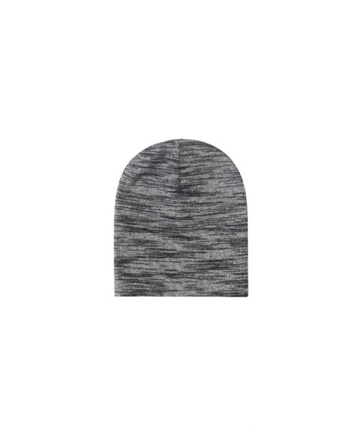 Cayler & Sons BLACK LABEL Patched Slouch Beanie black-grey knit