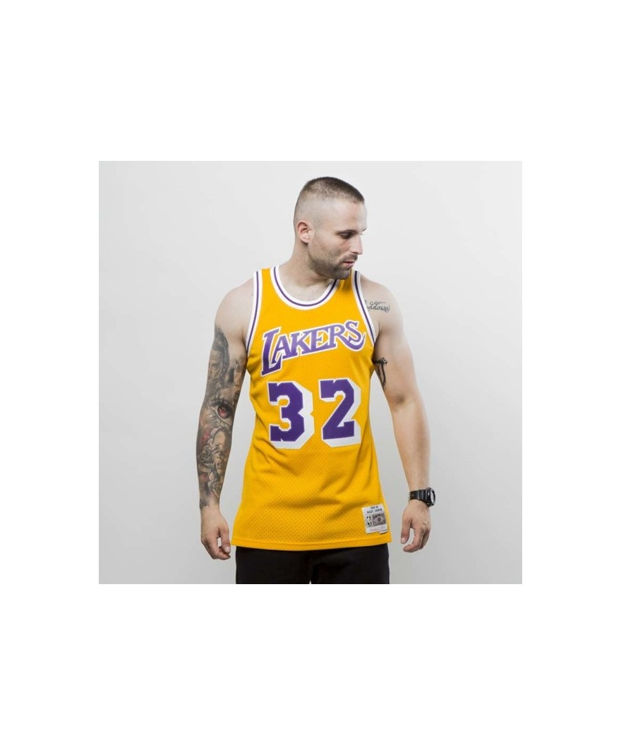 57b6efe7 Mitchell & Ness Los Angeles Lakers - Magic Johnson yellow Swingman Jersey