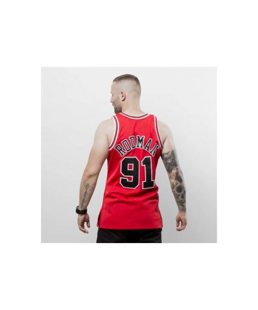 promo code 036a2 73877 Mitchell & Ness Chicago Bulls - Denis Rodman red Swingman Jersey