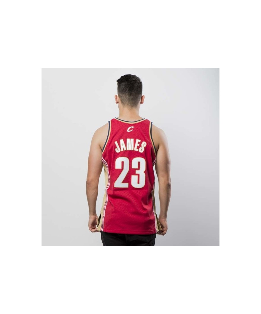 low cost d572d 2eb99 Mitchell & Ness Cleveland Cavaliers Lebron James red Swingman Jersey