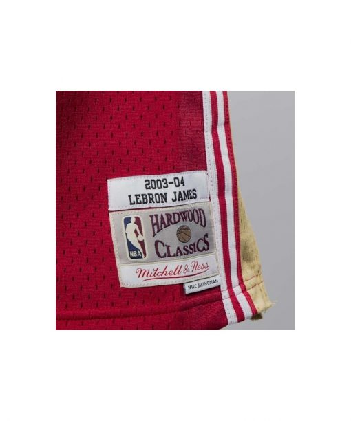 Mitchell & Ness Cleveland Cavaliers Lebron James red Swingman Jersey