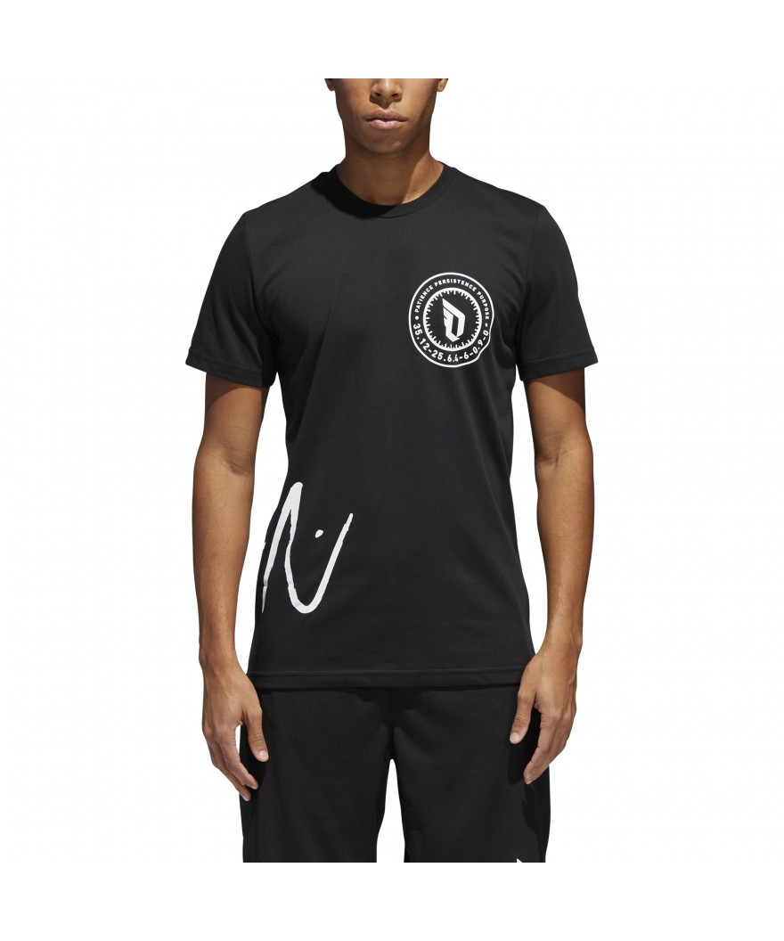 ffe187e8 adidas Dame Logo Tee Black   Pro Basketball