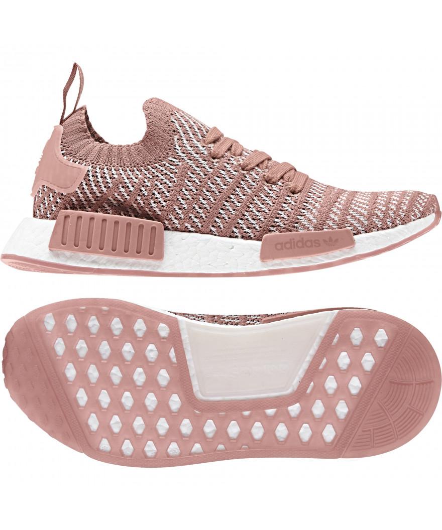 new concept cc026 bdddb adidas NMD R1 Primeknit STLT Ash Pink Womens
