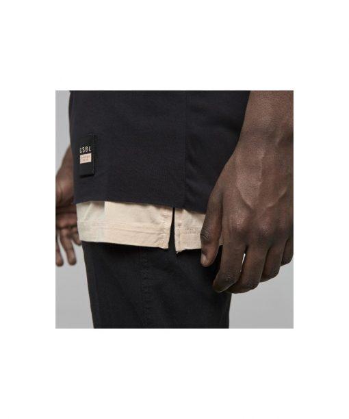 Cayler & Sons Black Label Deuces Long Layer Tee black / pale peach
