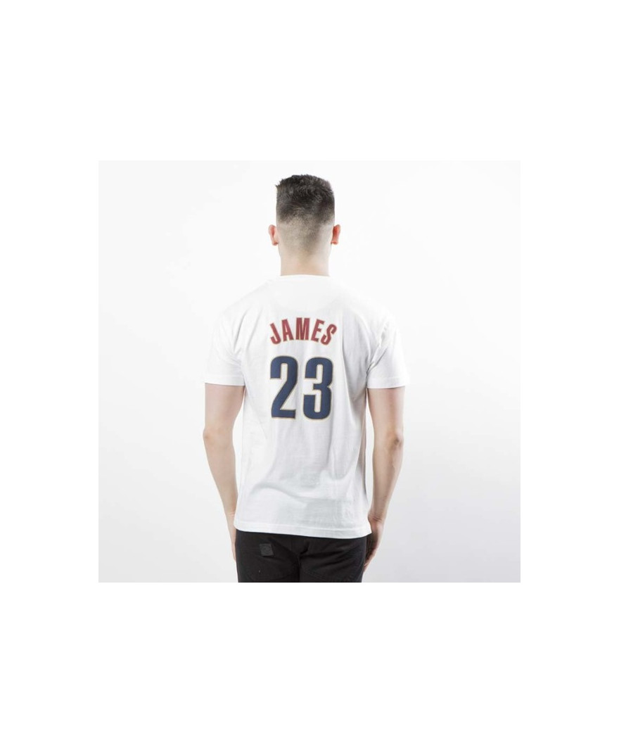 reputable site f3f60 6752f Mitchell & Ness Cleveland Cavaliers 23 Lebron James T-shirt white | Pro  Basketball