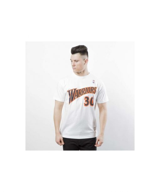 Mitchell & Ness Golden State Warriors 30 Stephen Curry T-shirt white