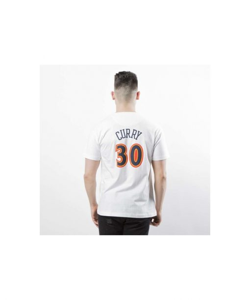 Mitchell & Ness Golden State Warriors 30 Stephen Curry T-shirt white