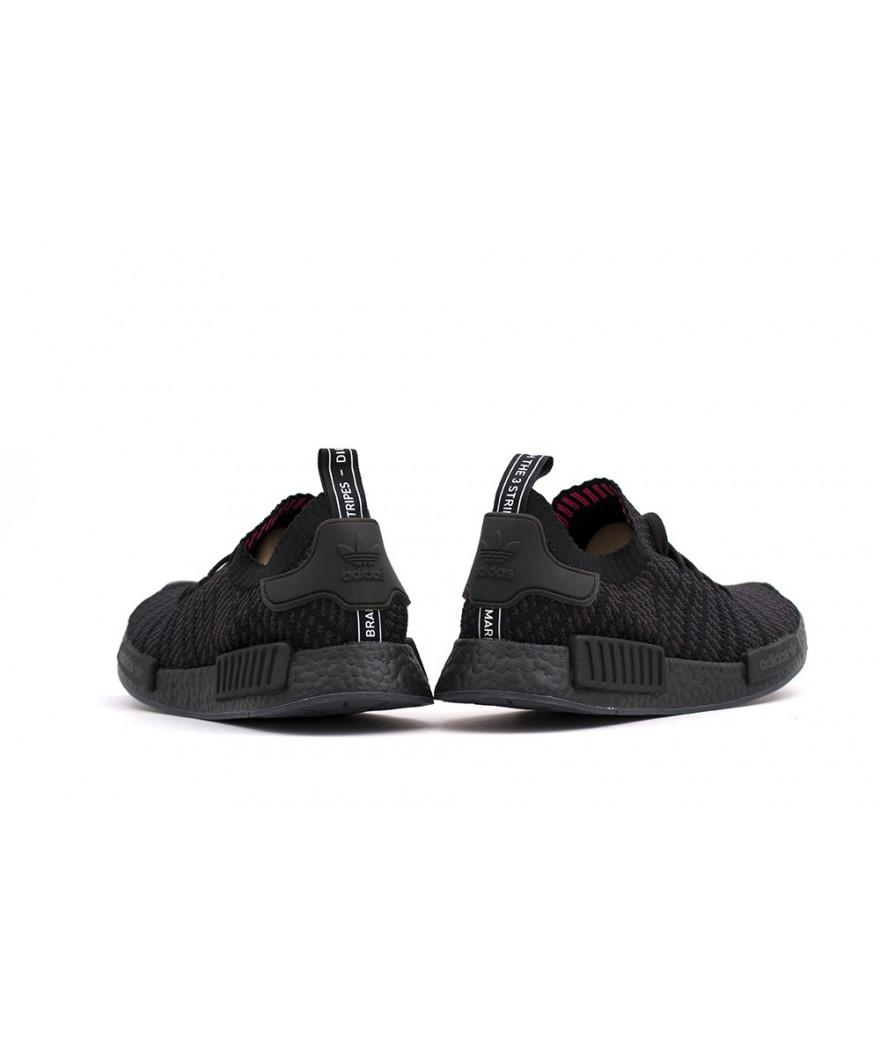 "new concept 1d221 b4a9e adidas NMD R1 STLT Primeknit ""Triple Black"" | Pro Basketball"