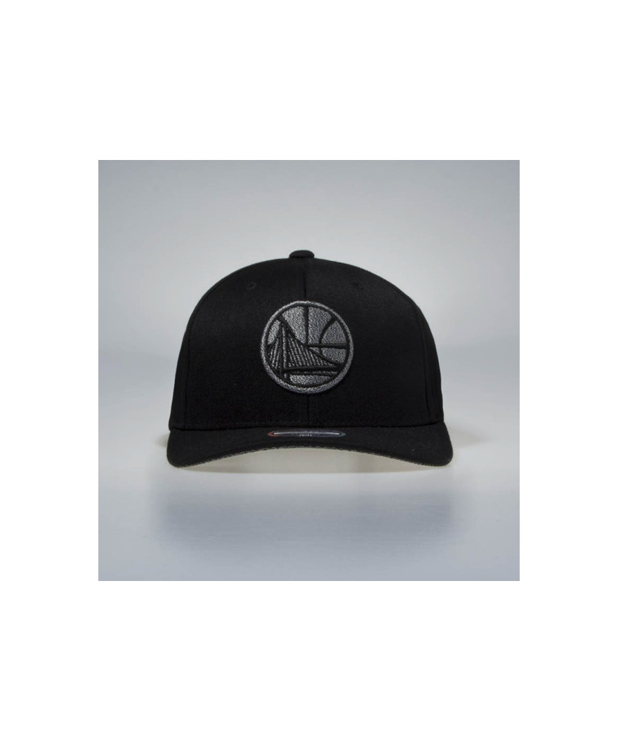 new style 090a4 b6f70 Mitchell   Ness snapback cap Golden State Warriors black Melange Logo 110 SB
