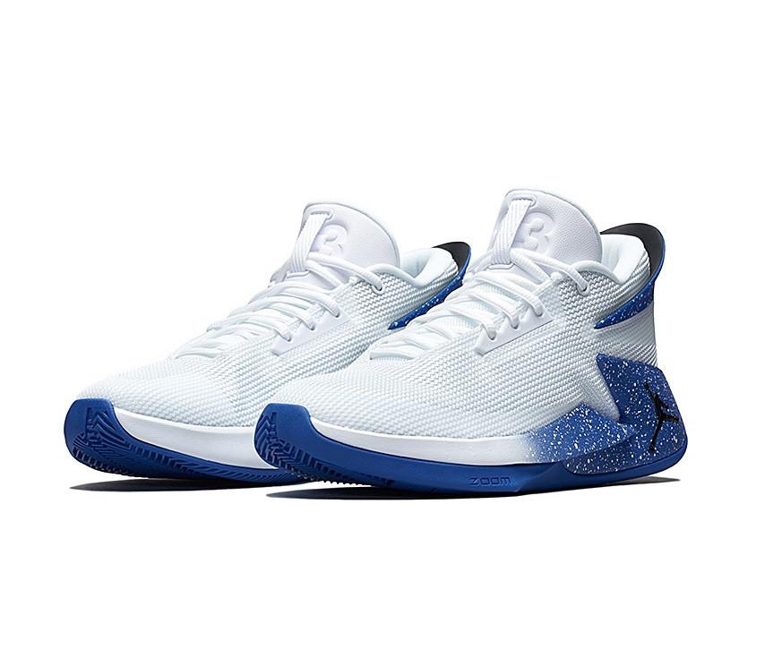 Jordan Fly Lockdown White/Blue   Pro
