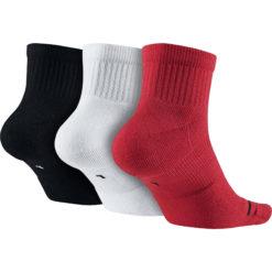Jordan Jumpman Quarter 3 Pair Men's Socks Black/White/Red