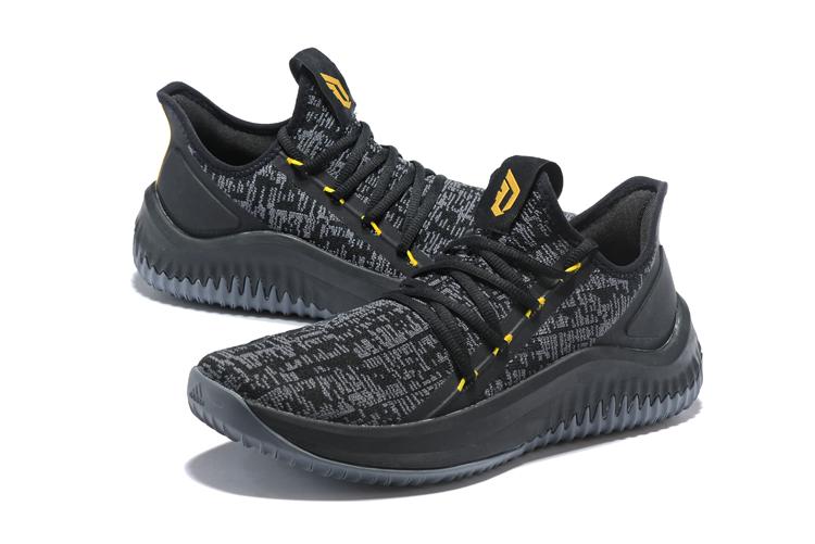 """online store 699e8 16b05 adidas Dame D.O.L.L.A. """"Black Metallic Gold""""  Pro Basketball"""