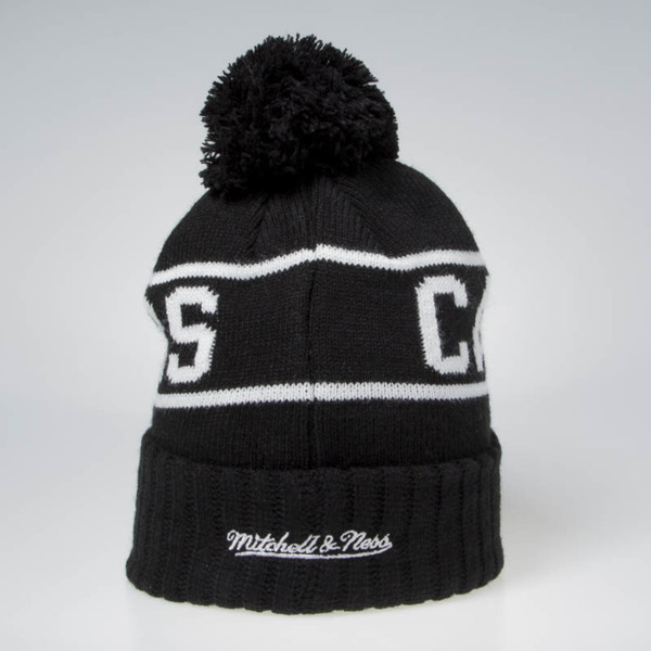 16d024984 Mitchell & Ness Cleveland Cavaliers Beanie black / white Glow In The Dark  Pom Knit | Pro Basketball