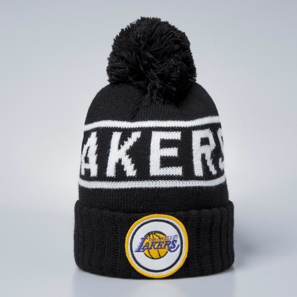 Mitchell   Ness Los Angeles Lakers Beanie black   white Glow In The ... d95bb1f18f2