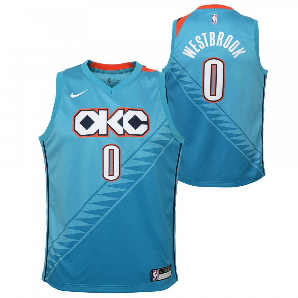 save off 2c4a7 9dbb2 Russell Westbrook City Edition Replica Jersey Kids