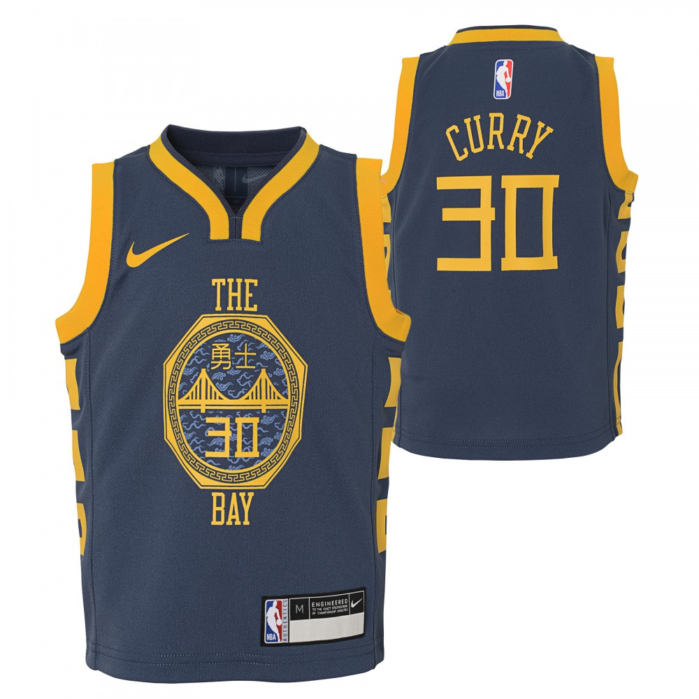 various colors bd8d4 c936a Stephen Curry City Edition Swingman Jersey Junior