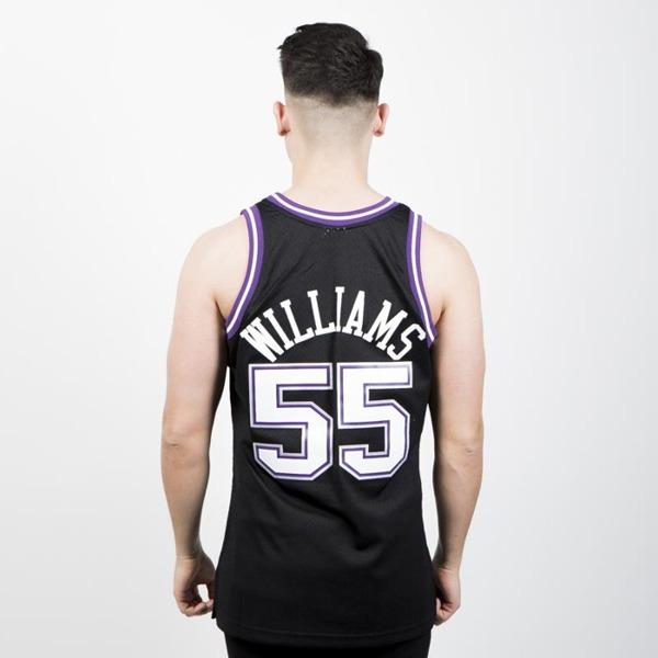 f9a8b80e8 Mitchell   Ness Sacramento Kings  55 Jason Williams black purple ...