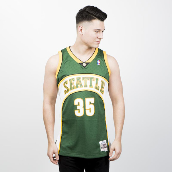 bddbb2f59a43 Mitchell   Ness Seattle Supersonics  35 Kevin Durant green white ...