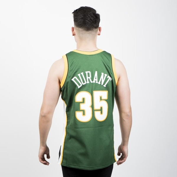 Mitchell   Ness Seattle Supersonics  35 Kevin Durant green white ... f11b87b61